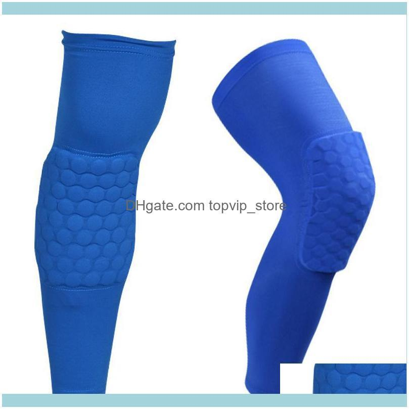 Sports Basketball Honeycomb Knee Pads Brace Elastic Kneepad Shockproof Protective Gear Patella Foam Support Volleyball Support