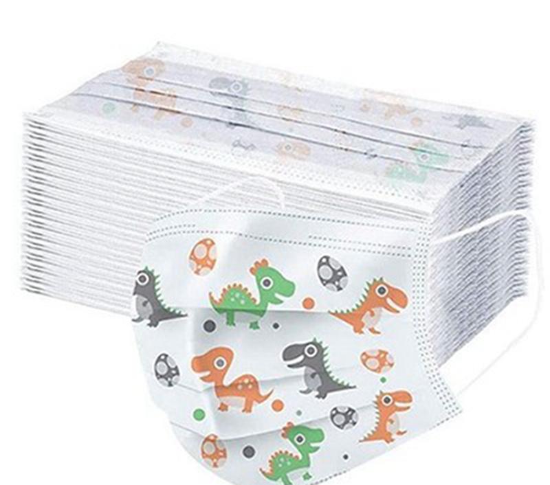 in stock kids disposable face mask cute carton printing printed mouth mask disposable mask for children face designer masks iia309