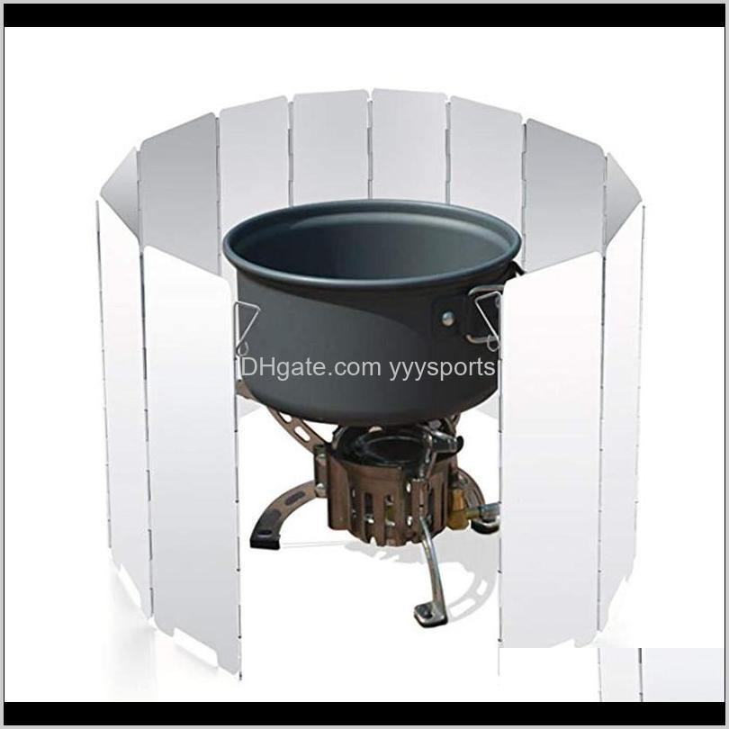 piece outdoor camping stove portable folding windbreakersuitable for all kinds of stoves