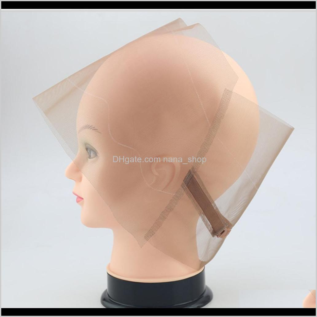 360 frontal wig cap breathable lace front hairnet for diy making wigs with adjustable straps