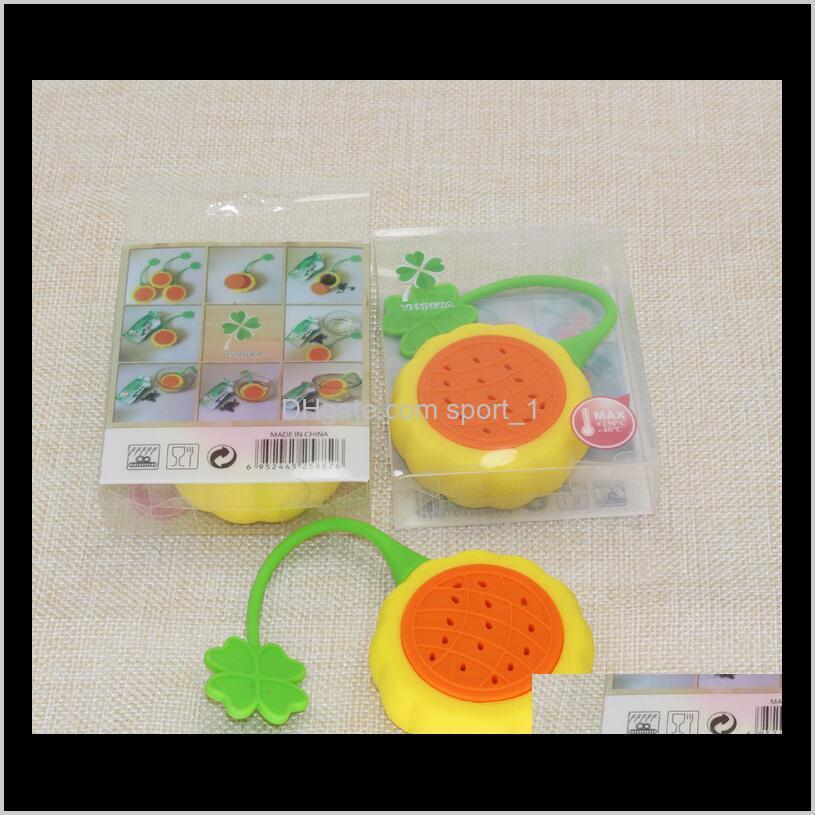 creative kitchen gadgets sunflower shaped tea infuser/tea strainers/coffee & tea sets non-toxic silicone tea tools