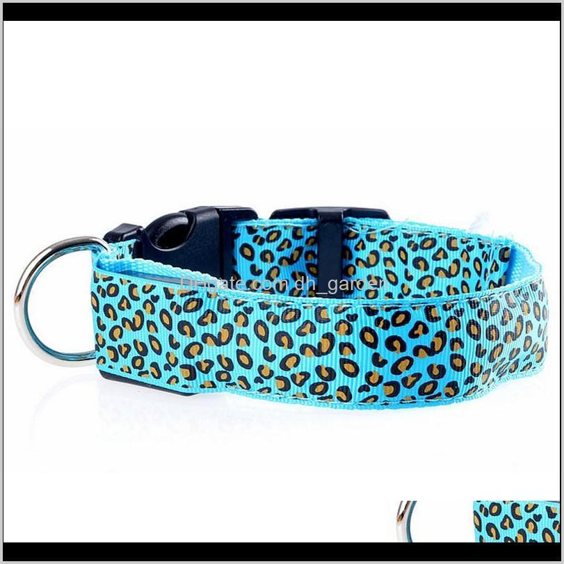 solid color nylon band dog pet led flashing collar night light up led necklace adjustable s m l xl various colors b499