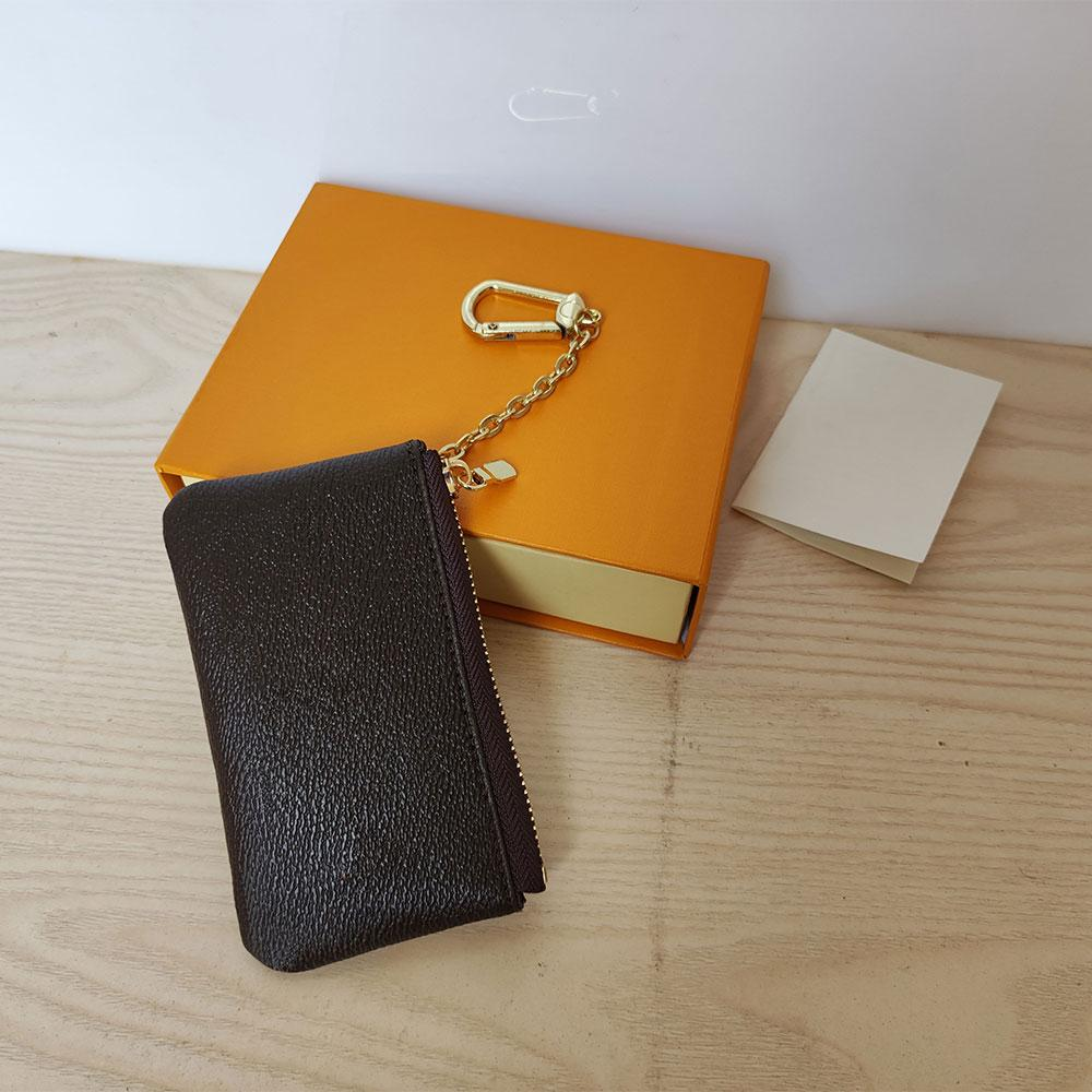 High Quality Coin Purses 62650 Key Pouch Classic Zip Wallets Fashion Designer mens Holders Letter Genuine Leather Womens purse Luxury unisex Wallet with box