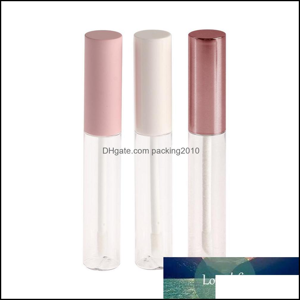 1pc 10ml Empty Round Lip Gloss Tube with Wand Applicator Refillable Plastic Lipstick Lip Balm Bottles Vials DIY Container New