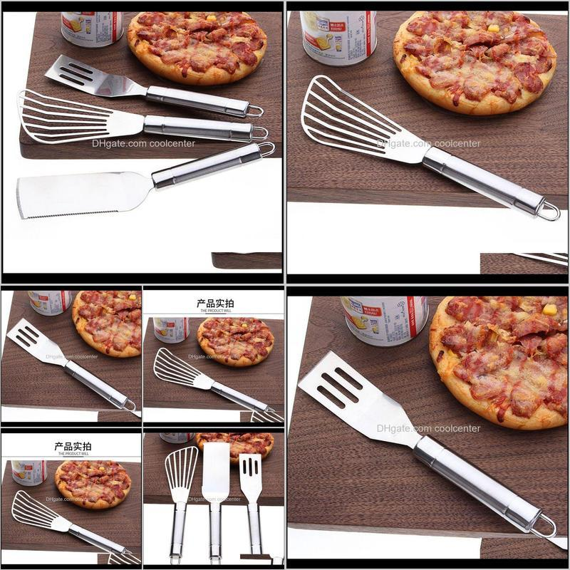 department store multifunctional kitchen korean cooking leakage stainless steel pizza shovel frying fish sfb02