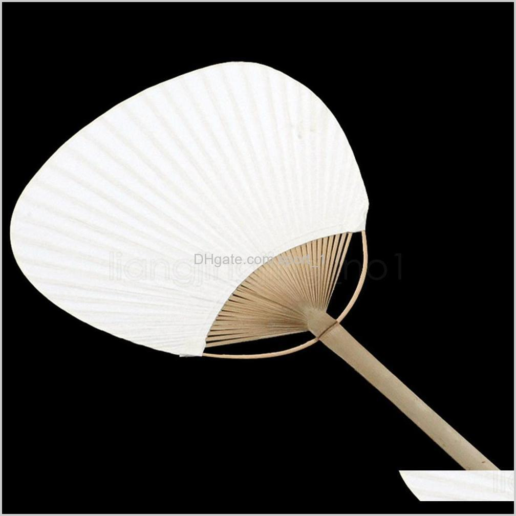 paddle hand fans diy painting blank fans with bamboo frame and handle paper fan handnade spanish fan wedding party favors gifts prop