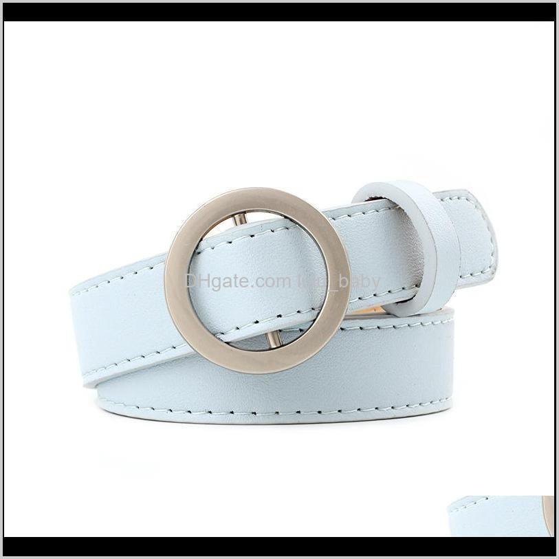 hot vintage women decoration belt pu leather belt smooth circle buckle simple slim pu leather belts s825