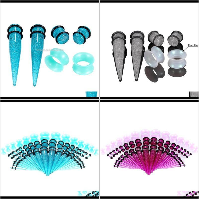 100 piece/set acrylic ear stretching kit gauge beginer ear stretchers plug and tunnel set ear stretching kit taper set lot