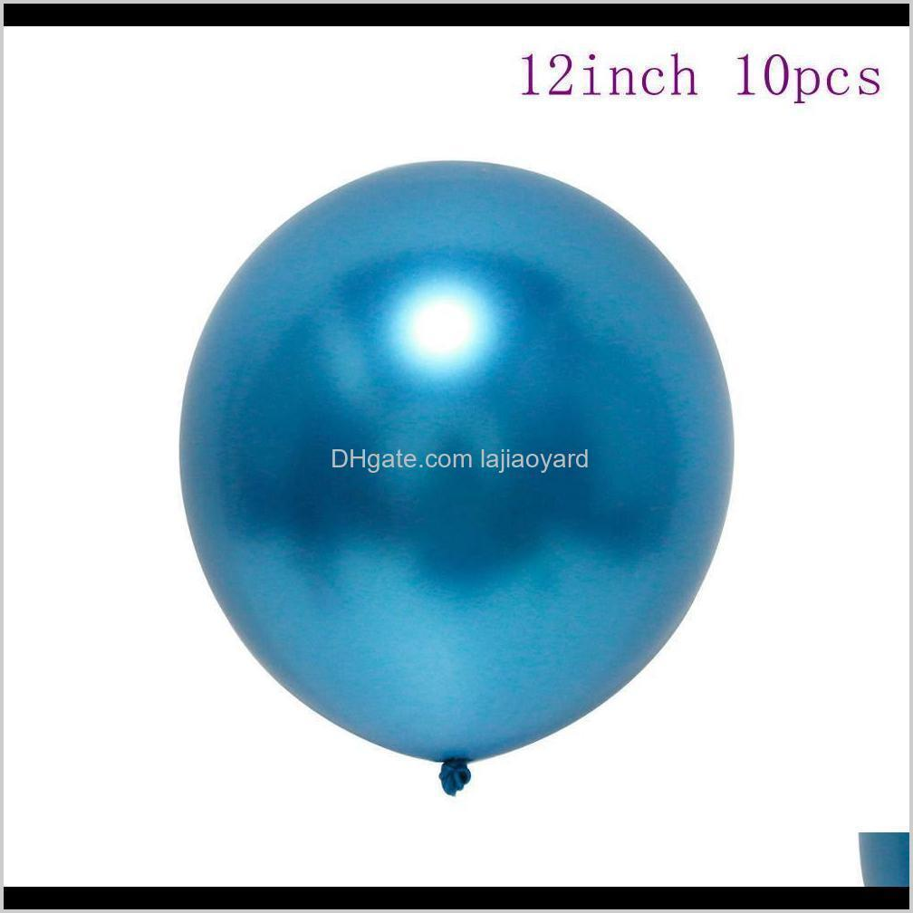qifu 7pcs metallic balloons and 1set balloon stand birthday party decorations kids air inflatable balls wedding party supplies wmtghd