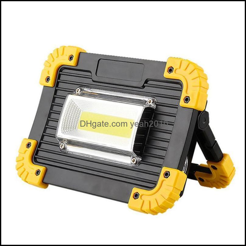 Portable Lanterns LED Spotlight COB Work Light Rechargeable Outdoor For Hunting Camping Lantern 1pc