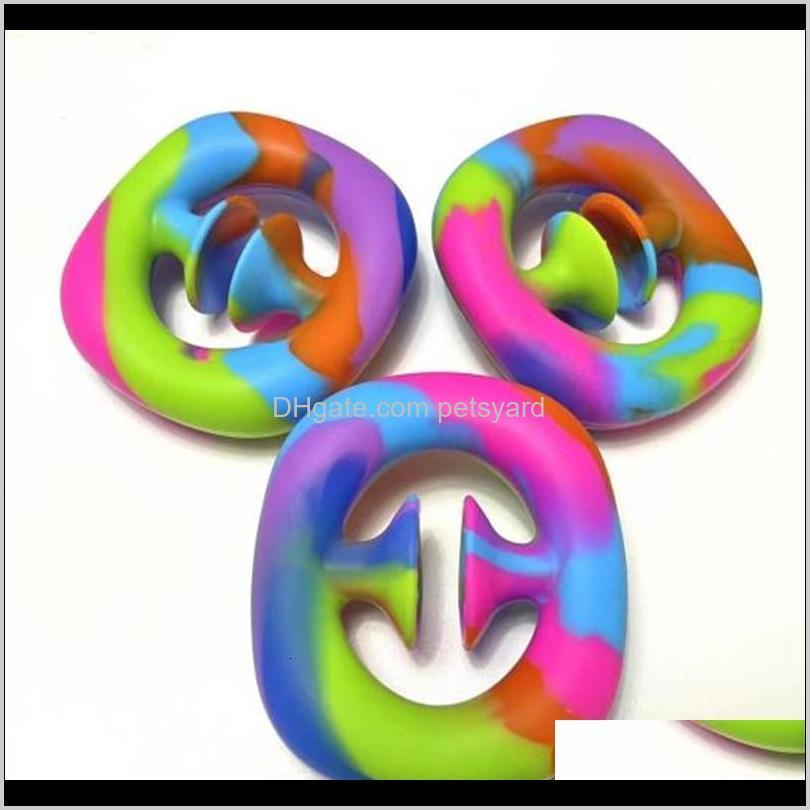 2022 snap sensory popper silicone hand grip toy snappers fidget toys pop it fidget sensory grip ring 501 z2