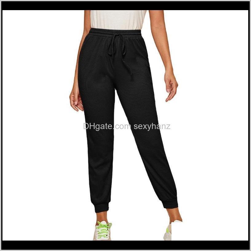2021 autumn women casual gym sweatpants workout fleece trousers solid thin winter warm female sport pants running streetwear