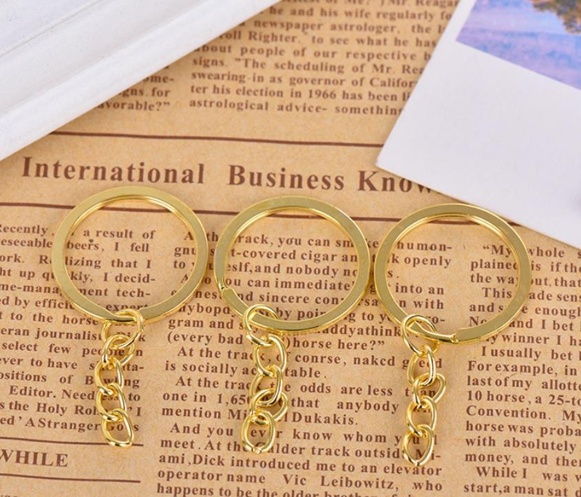 Keychains Fashion Accessories Drop Delivery 2021 Key With Chain Sier Gold Bronze Color Metal Split Keychain Ring Parts Jump Rings