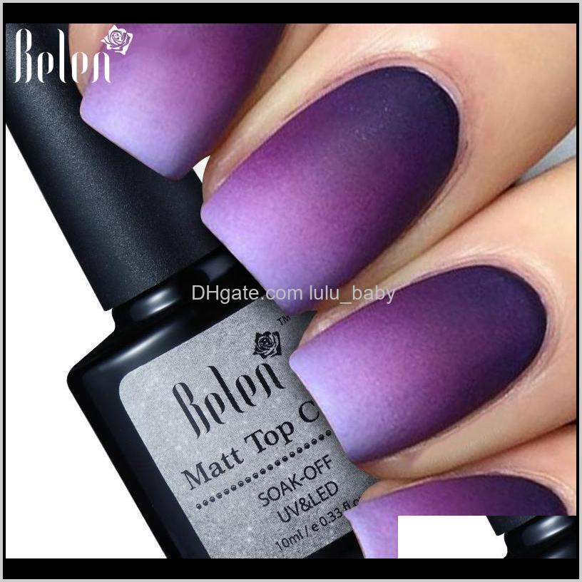 wholesale- belen 10ml matt top matt nail polish lacquer matte gel polish top gel nail mat vernis matte top coat uv gel nail primer