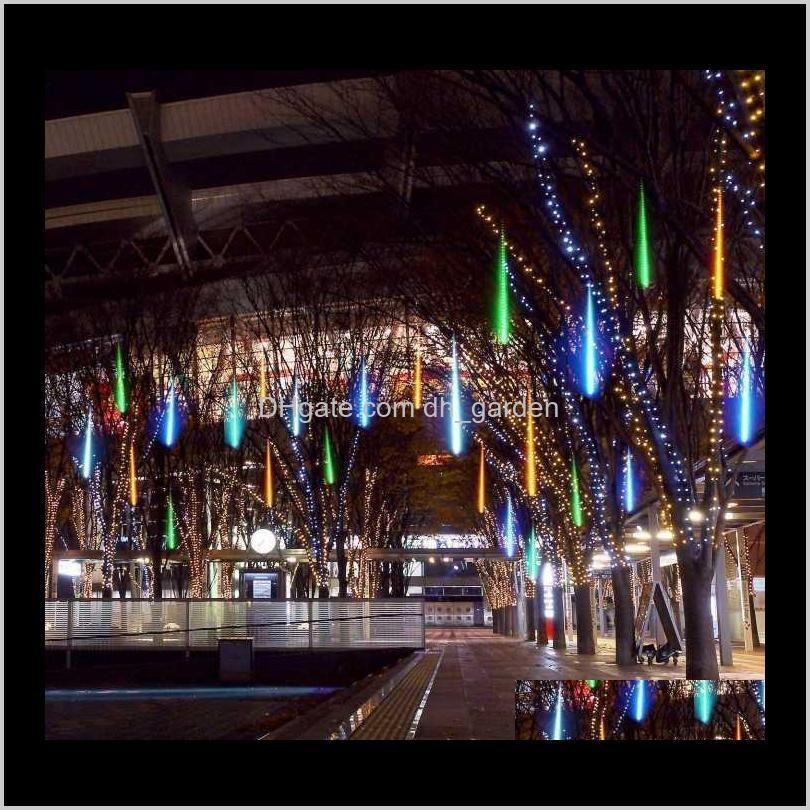 30/50/80cm meteor shower tube outdoor meteor rain light waterproof 8 tubes led string light for christmas wedding party decoration