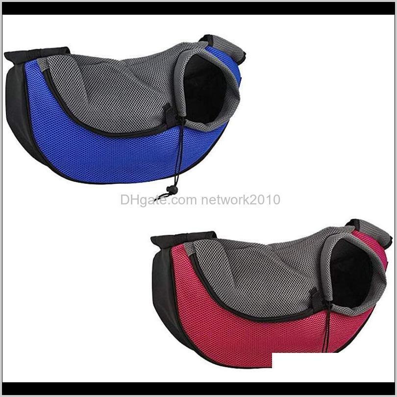comfort pet dog carrier outdoor travel handbag pouch mesh oxford single shoulder bag pet product sling mesh travel tote shoulder bag