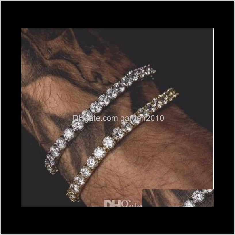 men hip hop water drill bracelet alloy one row diamond bangle wristband arts and crafts gifts home & garden ha065