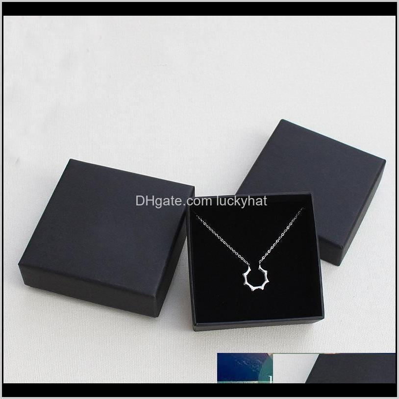 jewelry gift and retail boxes black kraft packing bracelet & necklace & ring & ear nail box christmas new year gift customize 10 size