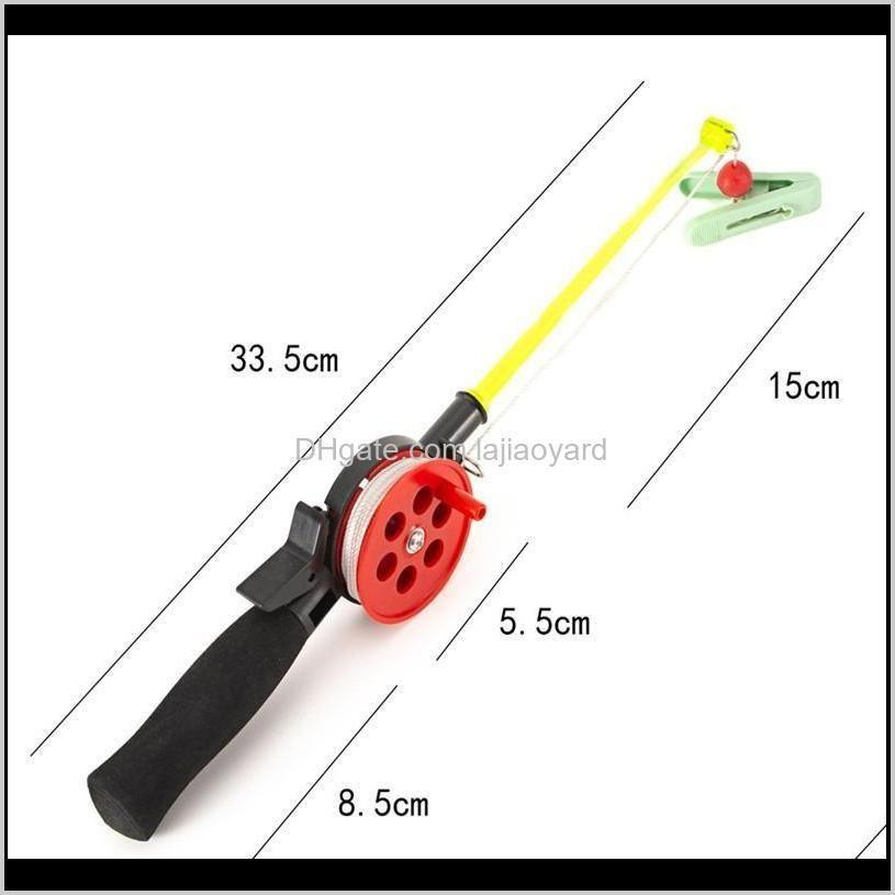 children`s fishing rod portable ice with reel eva handle outdoor winter boat rods
