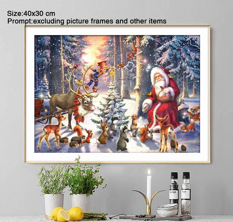 5d diy diamond painting full round christmas decorations for home santa claus daimond painting accessories adornment picture