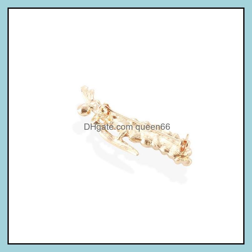 Fashion Women Brooch Pins Leaf Luxury Rhinestone Bouquet Brooches Creative Women`s Clothing Accessories