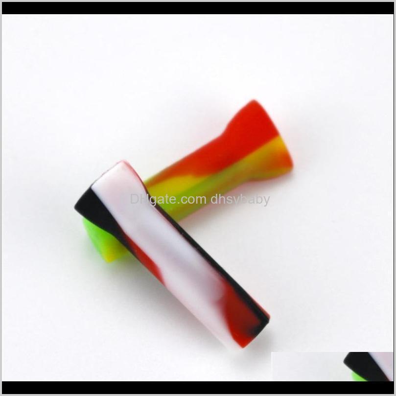 silicone blunt holder muti colors hookah tips smoking pipes hoses shishas portable smoke nozzle straight type 0 6xm c2
