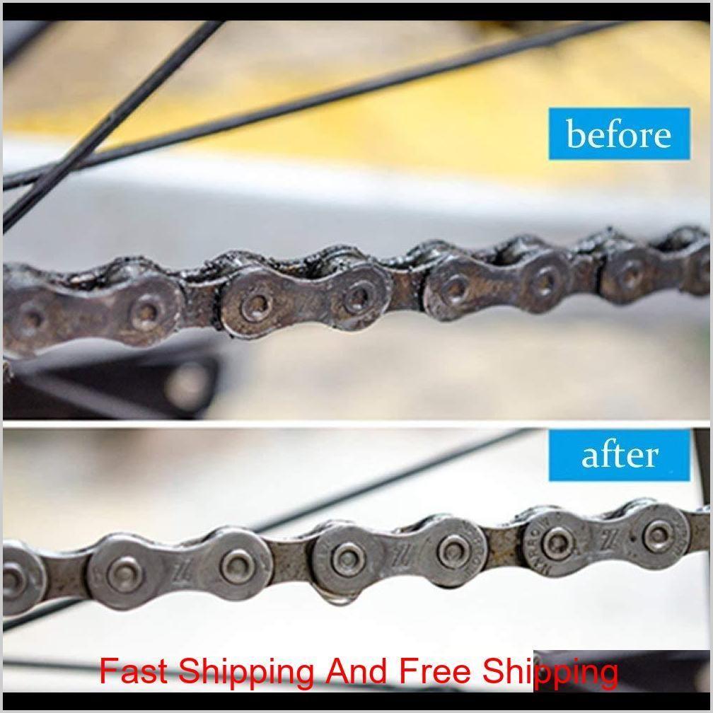 Bicycle Scrubber Bike Chain Cleaner Brush