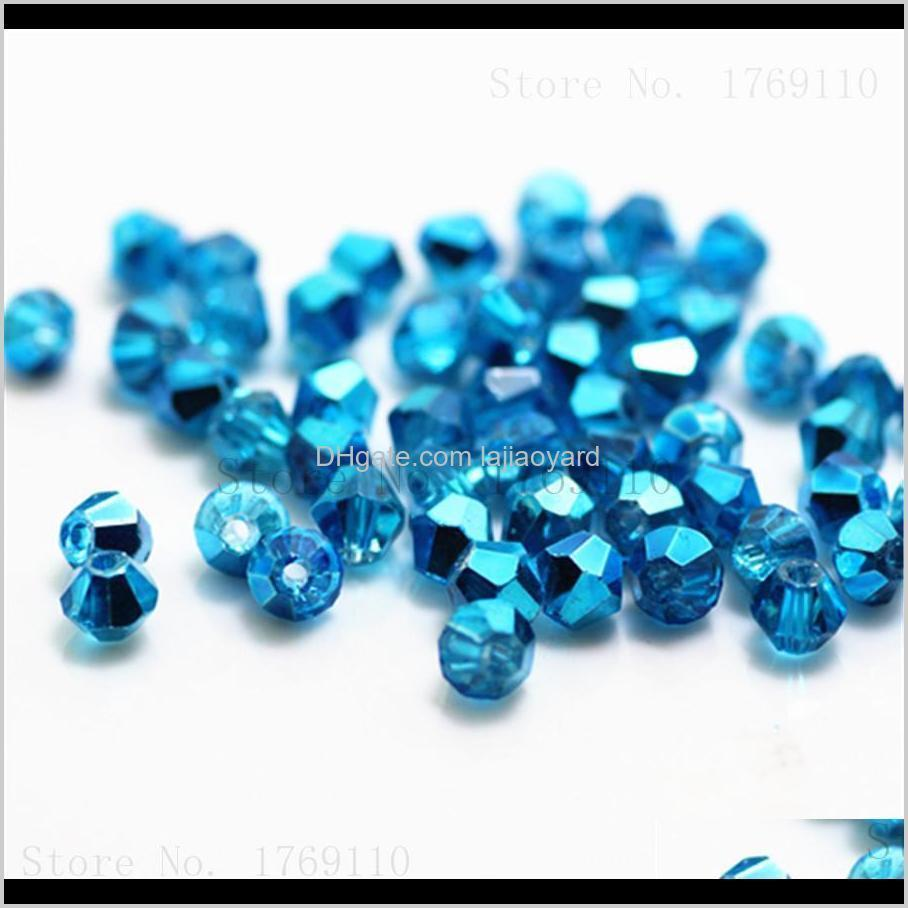 sale yellow color 500pcs 4mm bicone austria crystal beads charm glass beads loose spacer bead for diy jewelry making wmtcof