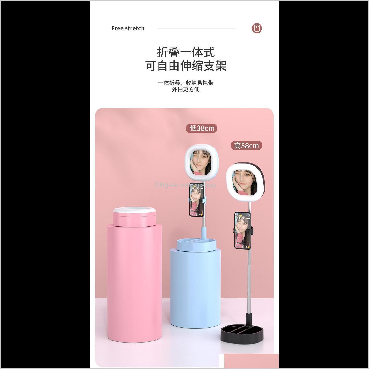 cell phone y3 led ring light 5w-15w 3500-6000k 3 color selfie ring lamp photographic live beauty lighting with tripod clamp standard