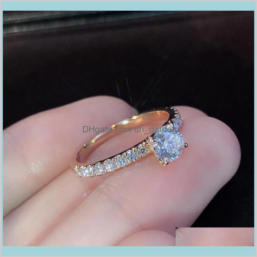 luxury diamond ring cz s925 siliver plated engagement wedding band rings for women men fashion jewelry