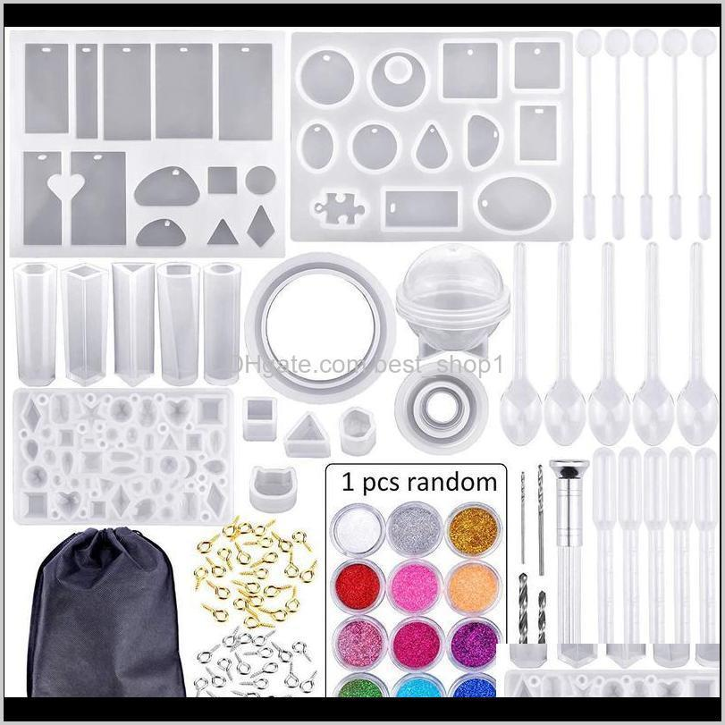 83pcs mold tools kit resin casting molds for crafts silicone epoxy jewelry necklace pendant diy