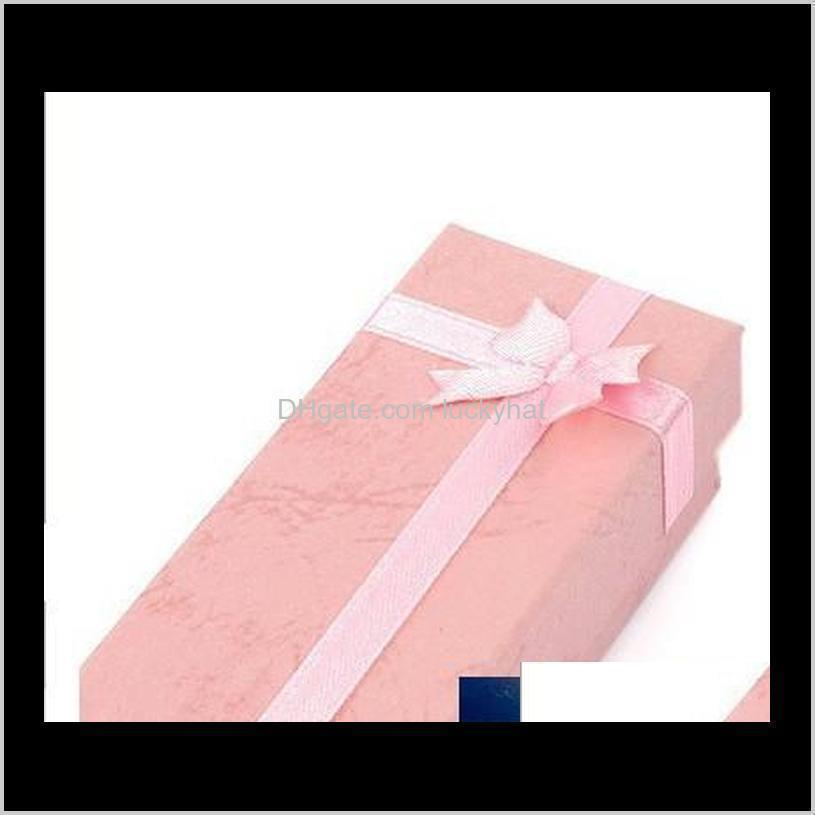 gift box 21*4.5cm jewelry package necklace gift box jewelry box mix color wedding gifts ds01