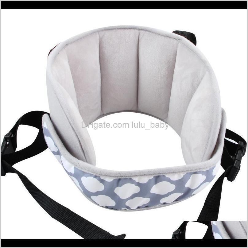 baby kids adjustable car seat head support head fixed sleeping pillow neck protection safety playpen headrest lj200821
