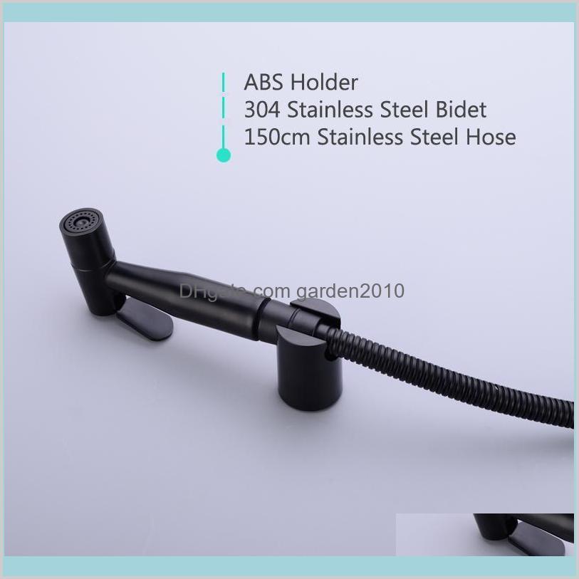 304 Stainless Black Handheld Bidet Spray
