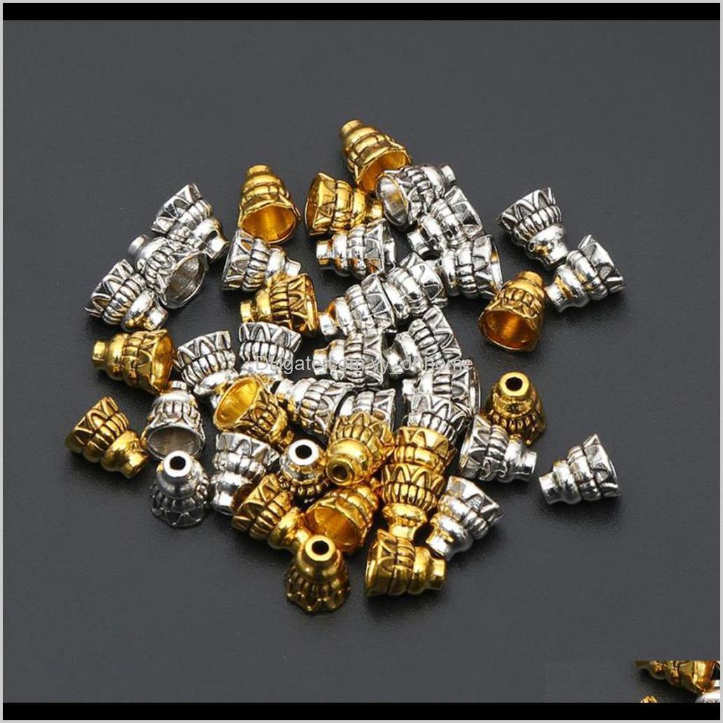 100 pieces vintage caps flower focal