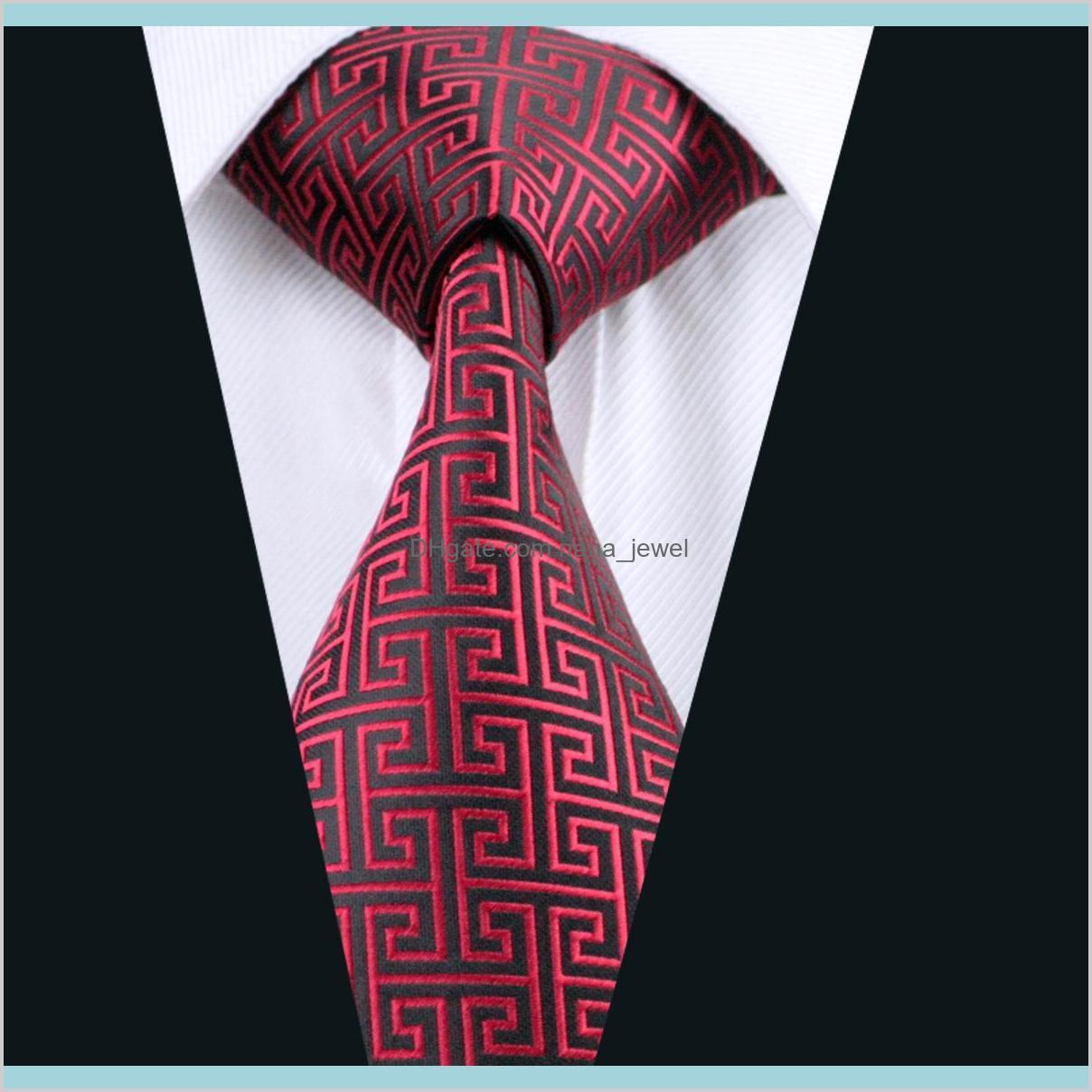 Classic Red Black Tie Set Hanky