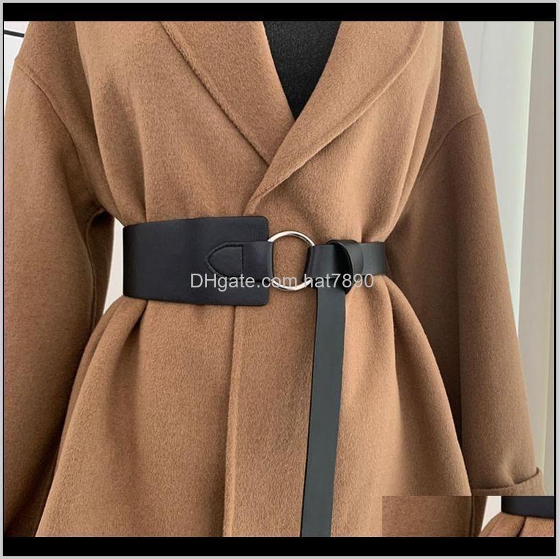 Corset Fashion Faux Leather Belt Thin Black Bow Leisure Belts Ladies Wedding Dress Coat Decorative Waistband Women