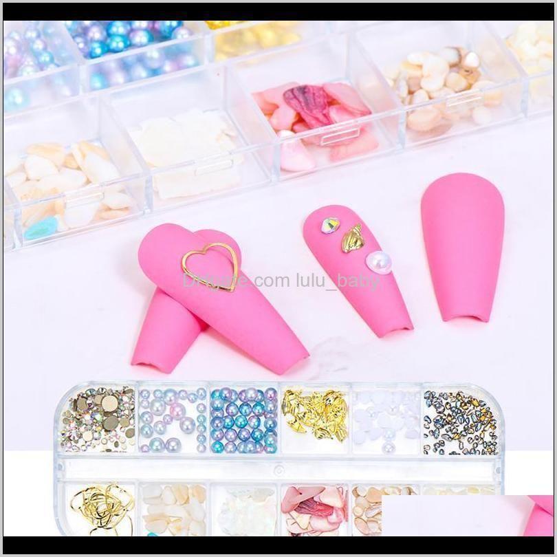 box rose gold flatback beads rhinestones nail art decorations charms studs metal rivet jewelry gems manicure accessories