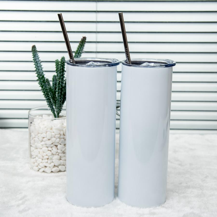 Sublimation Blank Tumbler Stainless Steel Glasses Tumblers Water Bottle Car Cup With Lid Straws Coffee Mug Wine Drinkware
