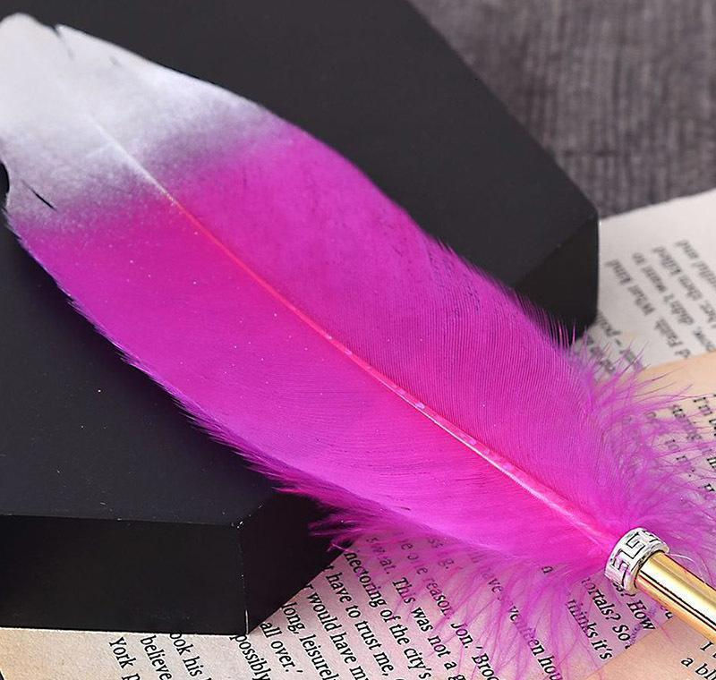 ostrich feather quill ballpoint pen for wedding signature birthday party gift home decoration office school