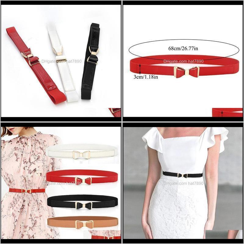 68cm Leather Thin Elastic Girdle Waist Belts Bow Women`s Belt Slim Elegant Dress Decor Accessories Fashion Ladies Wide Waistband