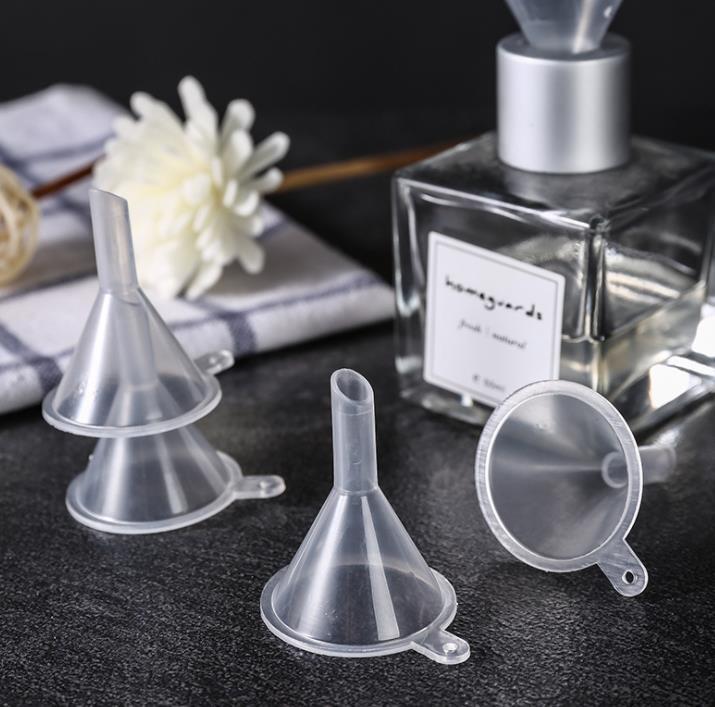 10pcs Mini Plastic Funnel Small Mouth Liquid Oil Funnels Laboratory Supplies Tools School Experimental