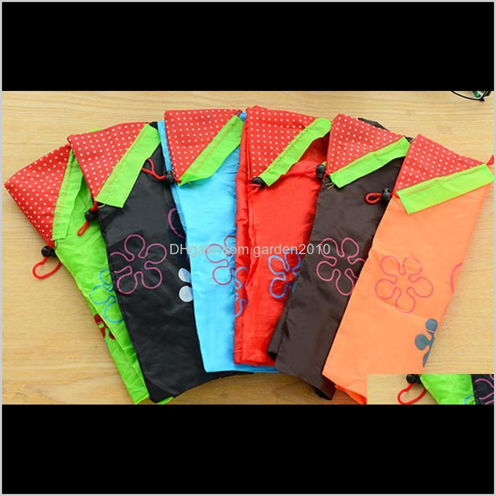 storage handbag strawberry foldable shopping bags reusable folding grocery nylon bags gift bag for party wedding festival