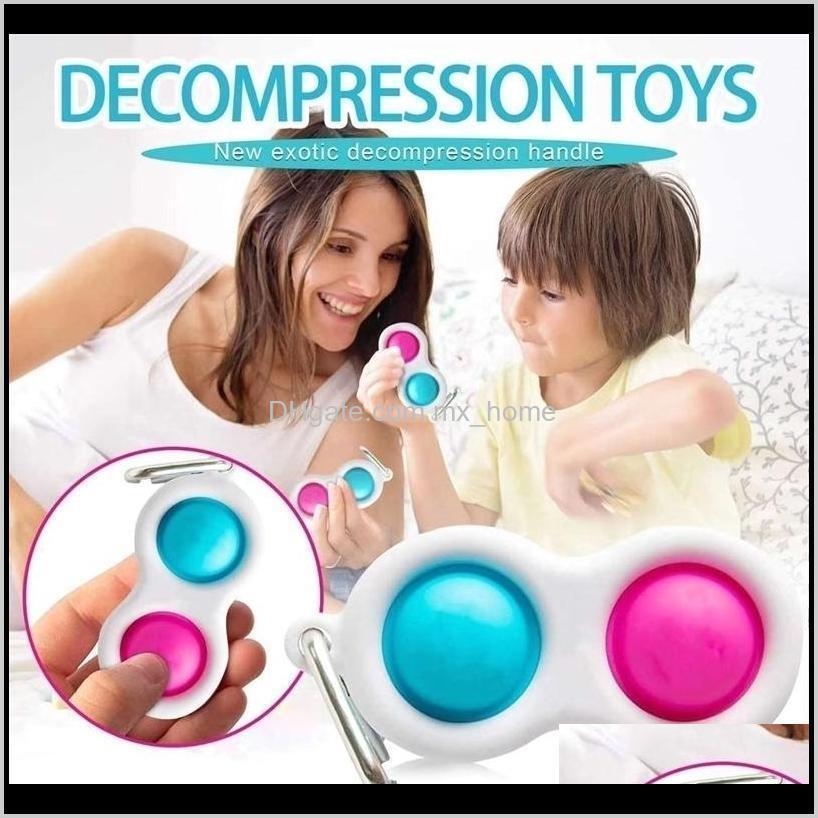 wholesale push bubble keychain kids adult novel fidget simple dimple toy pop it fidget toys key rings finger bubble toy bag pendants