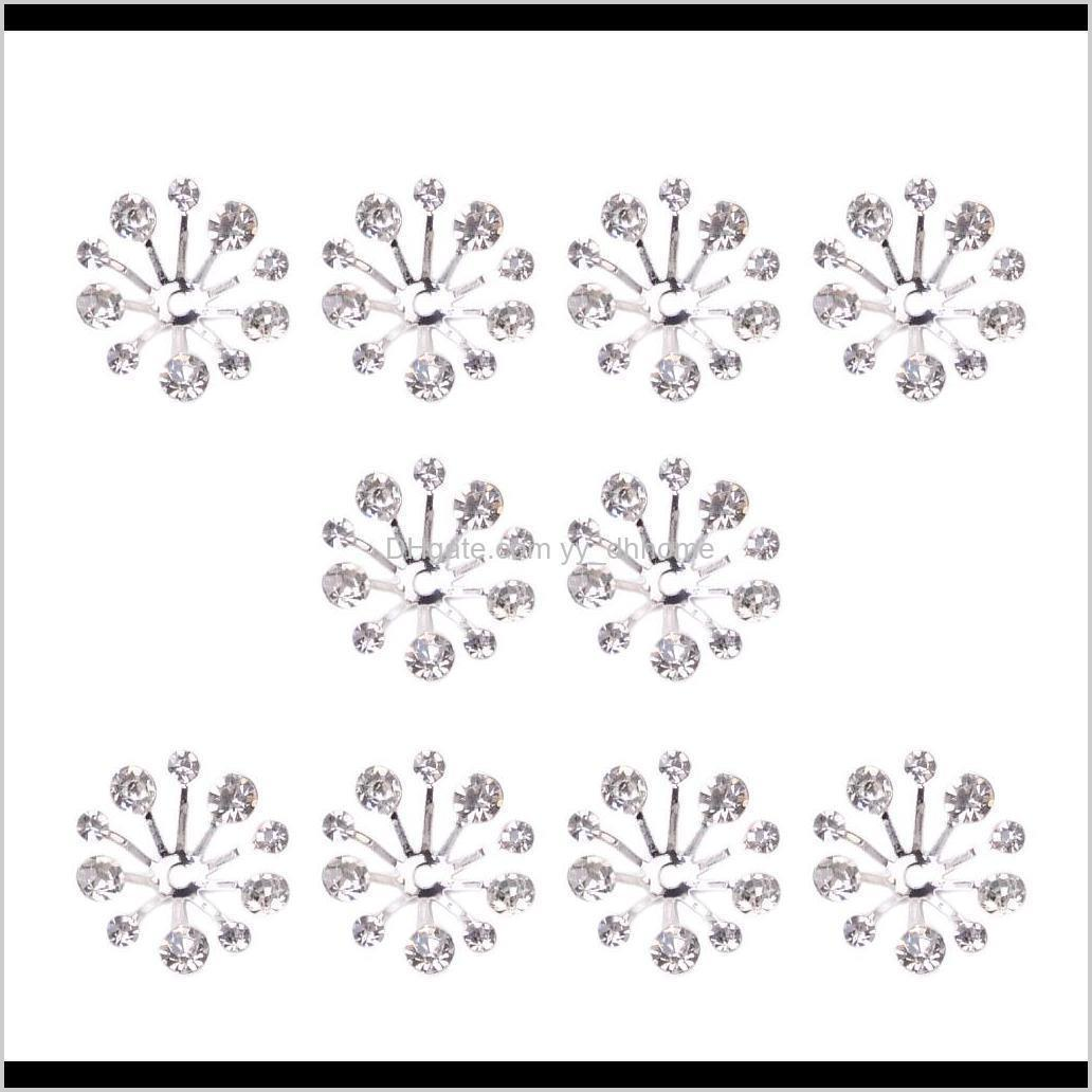 10pcs crystal filigree flower bead petal end cap finding for jewelry making