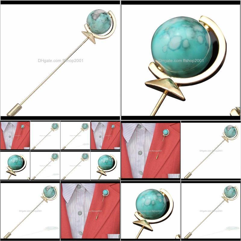 globe earth lapel stick pin mens designer lapel brooch pin wedding cocktail party men suit dress decoration boutonniere bouquet