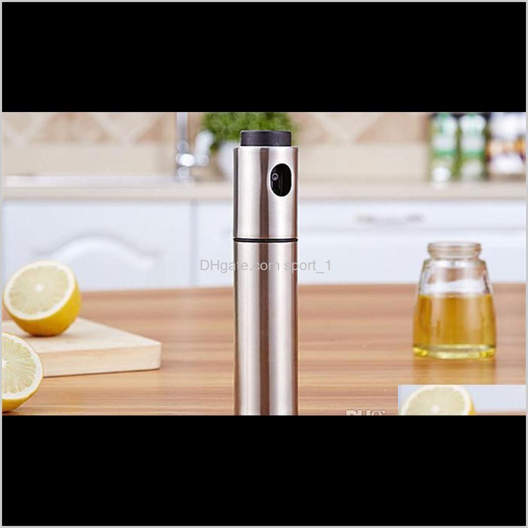 stainless steel spray pump fine mist olive pump spray bottle oil sprayer pot cooking tool shipping