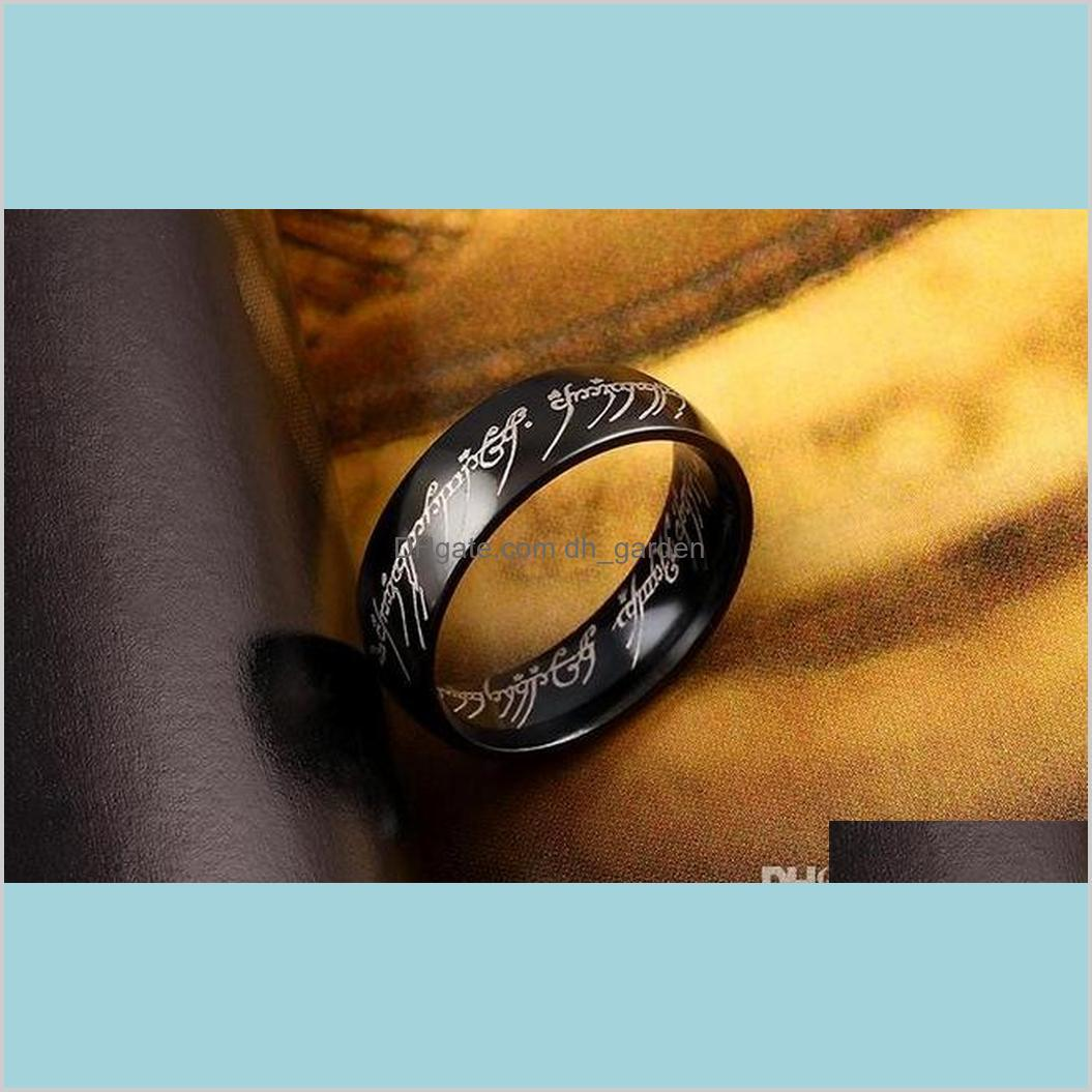 movie jewelry the lord of the ring fashion stainless steel jewelry finger ring for men and women the king