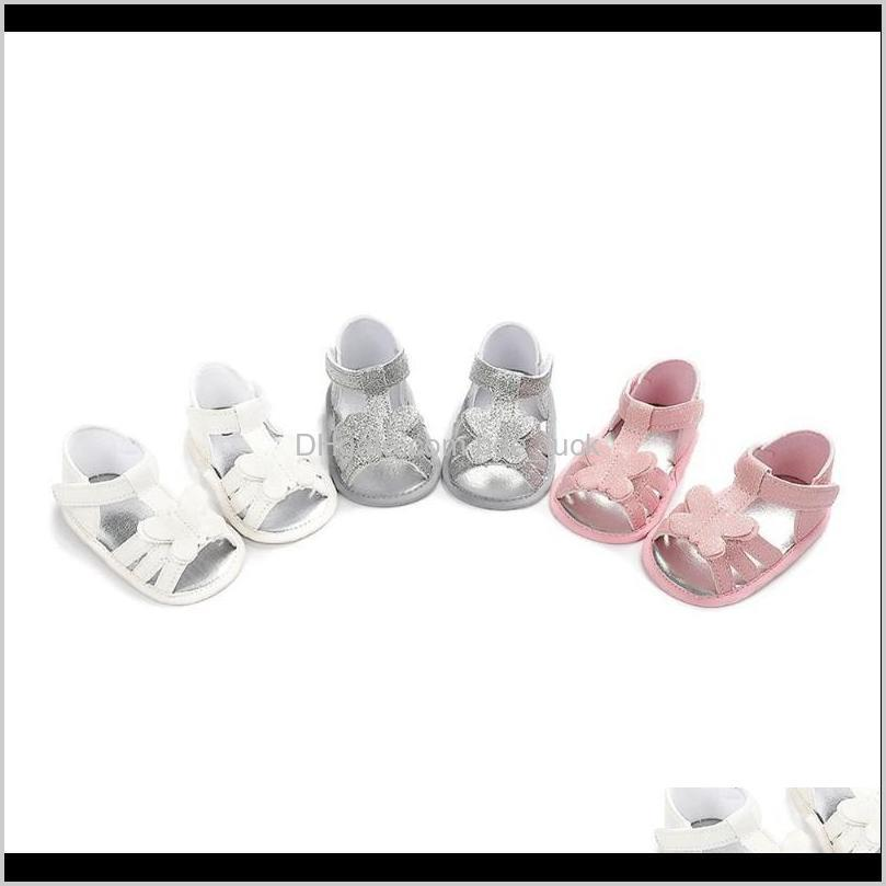 summer baby boys girls bow breathable anti-slip soft soled sandals
