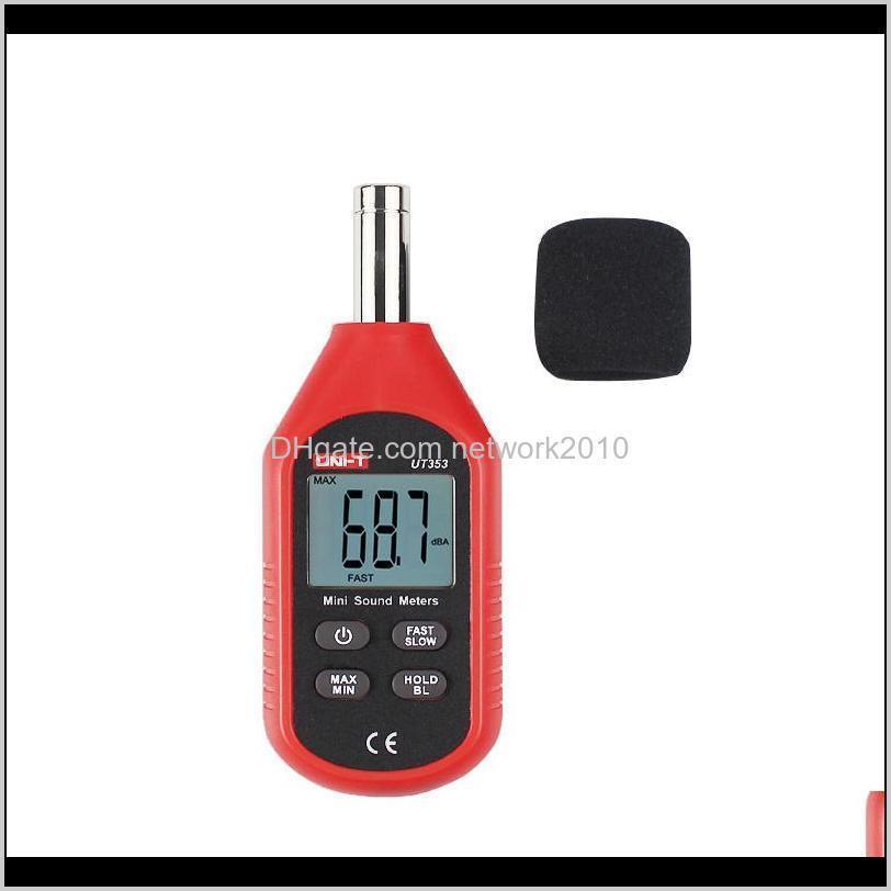 uni-t ut353 noise measuring instrument db meter 30~130db decibel monitoring indicator testers mini audio sound level meter decibel